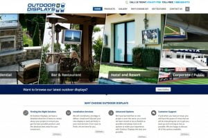 web design outdoor media displays
