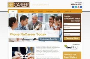 web design portfolio recareer