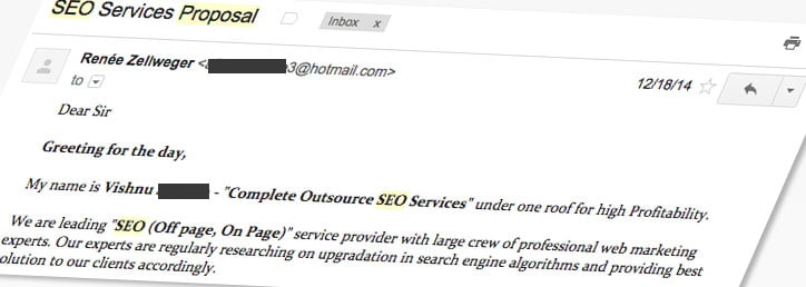 SEO-spam-emails