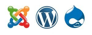 joomla wordpress drupal content management systems