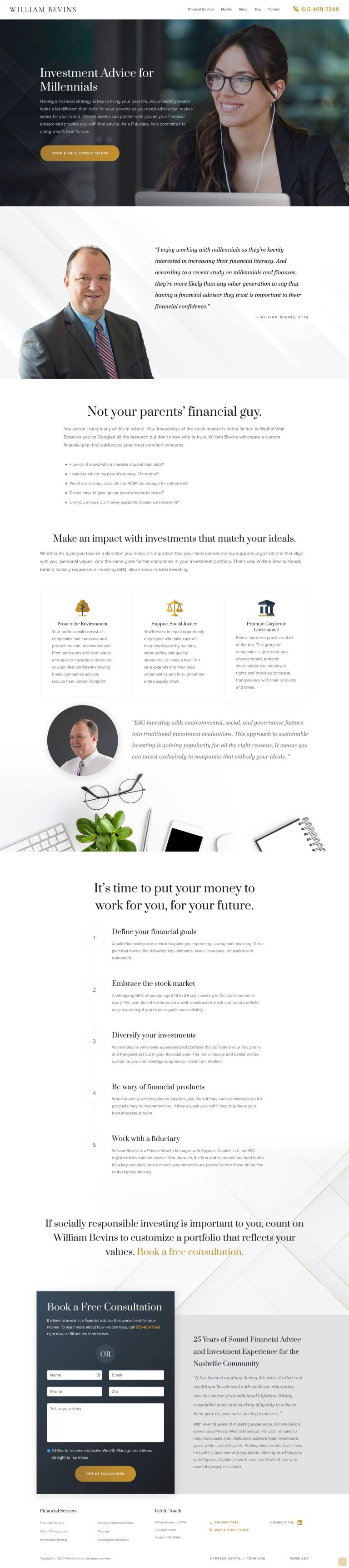 web design portfolio financial