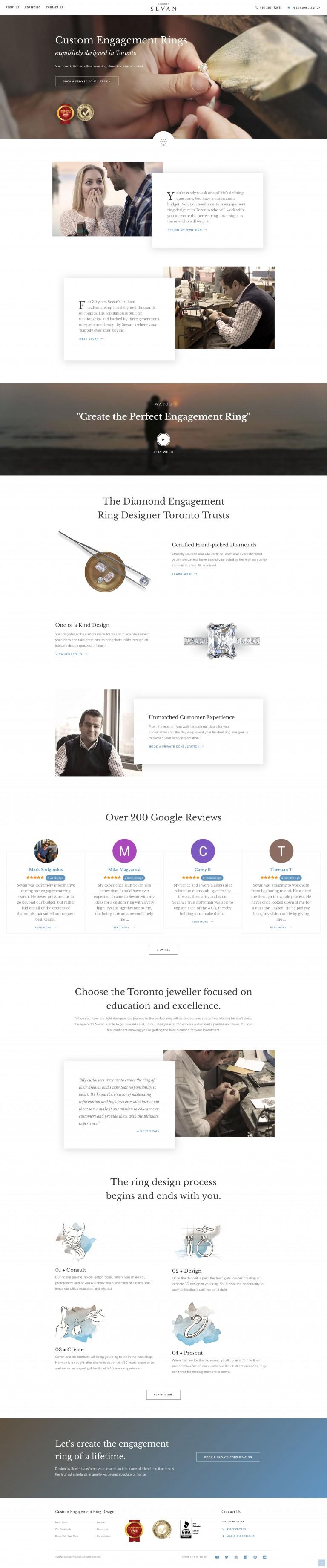 engagement ring designer website